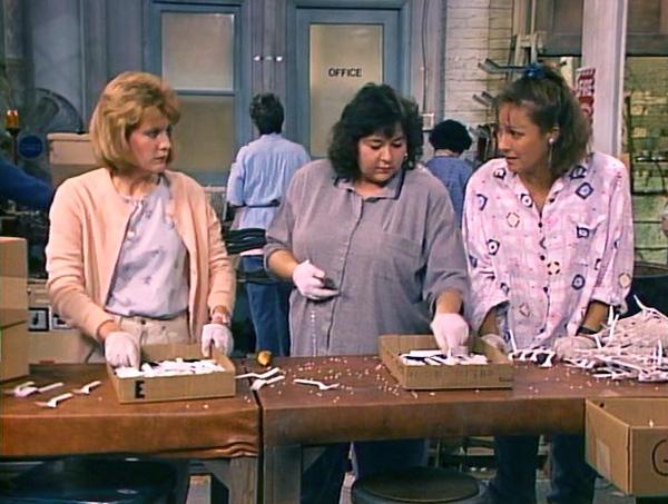 File:Roseanne-season-1-19-workin-overtime-rosie-crystal-jackie-laurie-metcalf-barr-natalie-west-wellman-plastics-factory-review-episode-guide-list.jpg