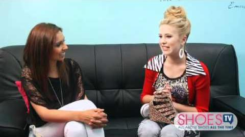 """Caroline Sunshine aka Tinka's Dressing Room on """"Shake It Up"""" set!"""
