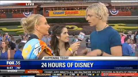 Stars of Austin and Ally Ross Lynch and Laura Marano at Walt Disney World