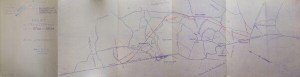 Déviation de Pougues les Eaux RN7 1952