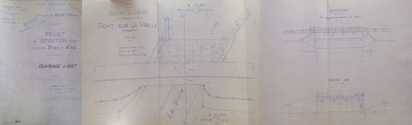 Déviation de Neuvy sur Loire RN7 1952 ouvrages d'art