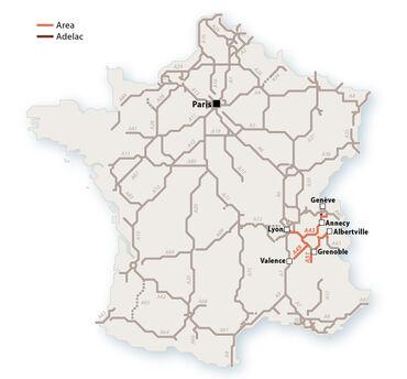 Le réseau AREA en 2010. © Le Baron