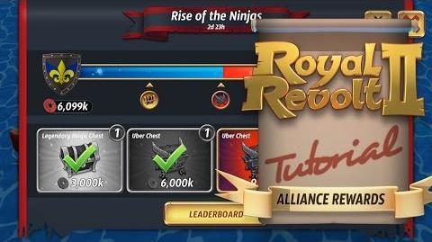 Royal Revolt 2 - Alliance Rewards in Ninja Events