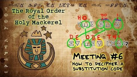 HOW TO DECIPHER A SUBSTITUTION CODE GRAVITY FALLS The Royal Order of the Holy Mackerel