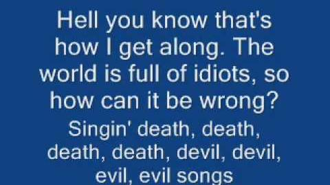 Death, Death (devil, devil, devil, devil, evil, evil, evil, evil song) - Voltaire with Lyrics