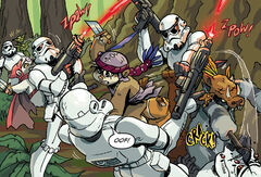 Ewoks against Stormtroopers - Shadows of Endor