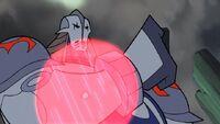 Durge using his energy shields