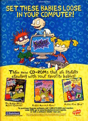 Nickelodeon Magazine November 1998 Rugrats computer games advertisement Print shop Movie Activity Challenge