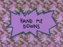 Rugrats - Hand Me Downs