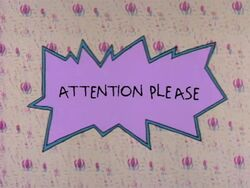 Rugrats - Attention Please
