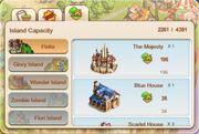 Info menu islands