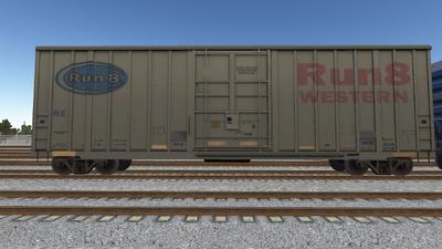 R8 Boxcar 50ft PlateF R801