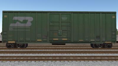 R8 Boxcar 50ft PlateF BN01