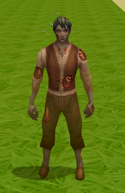 Decaying zombie outfit equipped