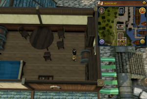 Simple clue Port Sarim food shop upstairs