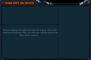 Items Kept on Death Safe Area 2