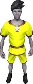 Gnomeballer's kit (yellow) equipped