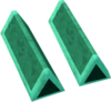 Green triangle key detail