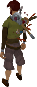 Backstab cape equipped
