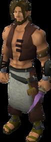 Off-hand novite dagger equipped