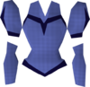 Blue elegant blouse detail