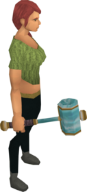 Crystal hammer equipped