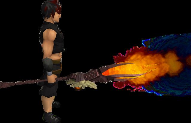 File:Skeletal battlestaff of fire equipped.png