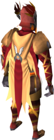Warpriest of Armadyl cape equipped