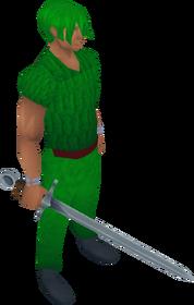 Excalibur equipped