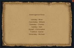 Interrogation Rota