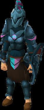 Rune heraldic armour set 1 (sk) equipped