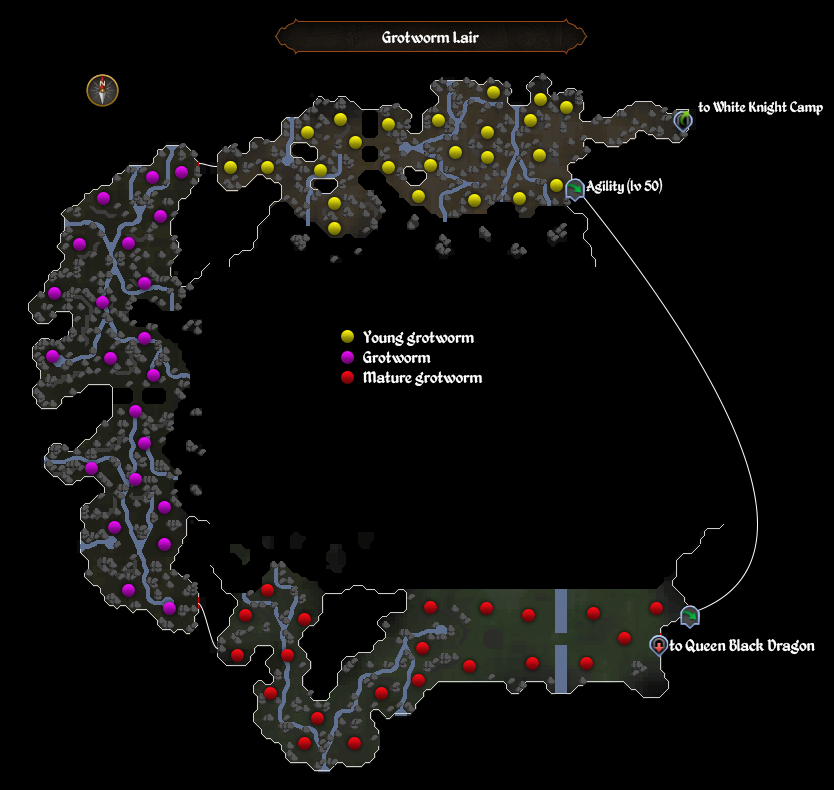 Grotworm Lair map