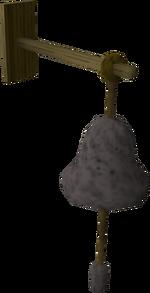 Rope bell-pull built