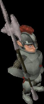 Gnome guard halberd