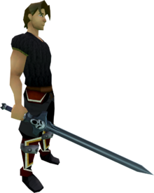 Wilderness sword 1 equipped
