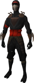 Death Lotus Disciple equipment (red) equipped