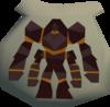 Obsidian golem pouch detail