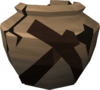 Cracked mining urn detail