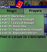 Prayer interface old1