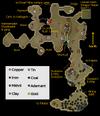 Dwarven Mine rocks map