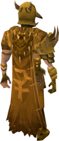 Golden warpriest of Bandos cape equipped