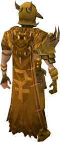 Golden warpriest of Bandos cape equipped