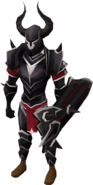 Black armour (t) (lg) equipped