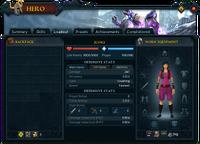 Hero (Loadout) interface