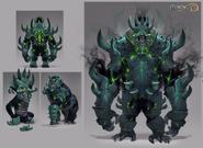 Shadow gorilla concept art