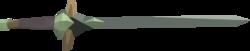 Kratonite longsword detail