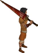 Parasol 2H sword equipped