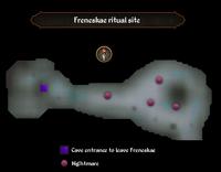 Freneskae ritual site map