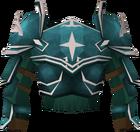Rune platebody (Saradomin) detail