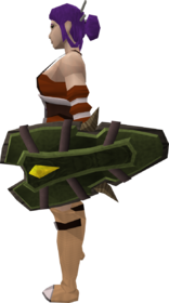 Archleather shield equipped